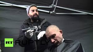 russia australian barber gives free hair cuts to st petersburg u0027s