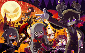 halloween anime background oounabara to wadanohara wadanohara and the great blue sea