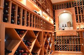 furniture custom wine cellar racks vancouver with best lighting