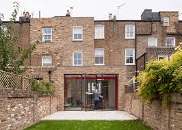 House Frame Tigg Coll Integrates Bright Red Steel Frame In House Extension