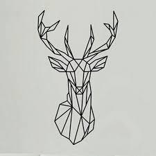 Stag Head Designs Geometric Deer Head Tattoo Design My Next Tatto Pinterest