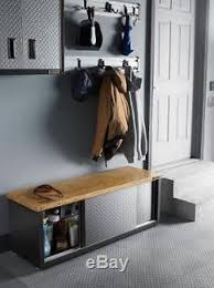 industrial storage bench storage bench storage bench industrial garage steel wooden seat