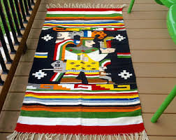 Zapotec Rug Paintings Mexican Rug Etsy