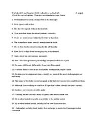 adjectives and adverb worksheet 5th 6th grade worksheet lesson