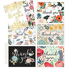 thank you cards 48 floral thank you cards bulk for wedding