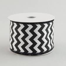 black and white striped ribbon 2 5 satin chevron stripe ribbon black white 10 yards sp627