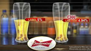 Bud Light Alcohol Content Cnn Tests Alcohol Of Anheuser Busch Beers Brewer Attorney