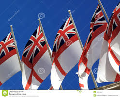 With All Flags Flying White Ensign Flags Flying From Admiralty Arch Stock Image Image