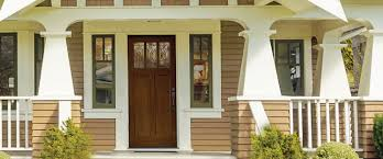 Double Glazed Wooden Front Doors by Unfinished Entry Doors