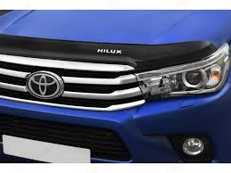 toyota hilux logo toyota hilux 2016 on bonnet guard 4x4 accessories u0026 tyres