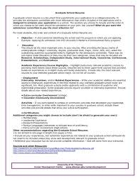 Resume Highlight Examples by Graduate Resume Examples Graduate Resume Sample
