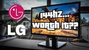 black friday 144hz monitor lg 24gm77 review english 144hz gaming monitor youtube