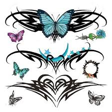 designs beautiful lower back tattoos with tribal tattoos