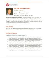 online syllabus templates u2013 teaching and learning innovations at ci
