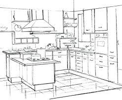 comment dessiner une cuisine ordinary meuble fer 12 implantation cuisine perspective cuisine