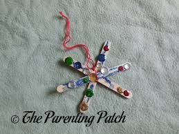 popsicle stick snowflake craft parenting patch