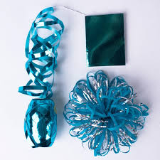 curling ribbon turquoise silver loop bow gift tag curling ribbon set only 99p