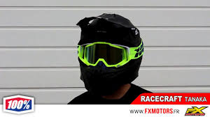 motocross helmet goggles masques motocross 100 racecraft 2017 youtube
