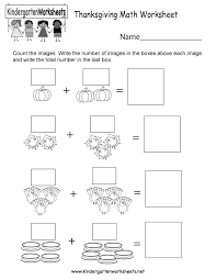 free printable thanksgiving math worksheet for kindergarten