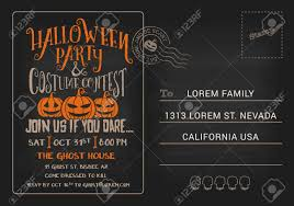 halloween halloween party and costume contest postcard