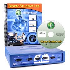 biopac student lab biomedical engineering teaching system win