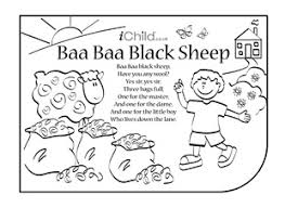 preschool coloring pages nursery rhymes nursery rhymes coloring pages baa baa black sheep preschool for