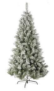 christmas tree with snow festive flocked snow princess pine christmas tree 1 80 m green