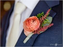 coral boutonniere denver wedding photographer rustic colorado