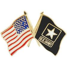 Pin Flags American And Us Army Star Crossed Flags Pin Products Pinterest