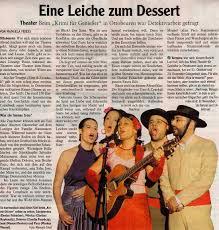 Bildschirmzeitung Bad Wurzach Presse Zimt U0026 Zyankali Krimi Theater Für Genießer