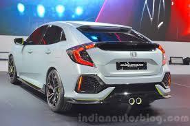Honda Civic India Interior Honda Civic Hatchback Prototype Rear Three Quarters At The 2016 Geneva
