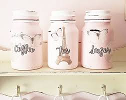 pink canisters kitchen kitchen canisters etsy