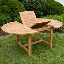 Expandable Table by Teak Outdoor Expandable Round Table With Hideaway Insert Outdoor