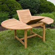 Round Patio Furniture Set Teak Outdoor Expandable Round Table Set Outdoor