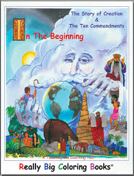 coloring books story of creation and ten commandments really big