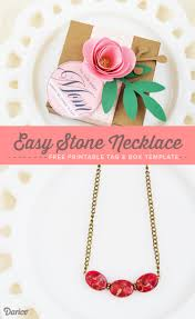 day necklaces diy necklace with free gift box printables darice