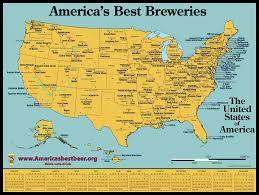 Map If America by Map Of America U0027s Best Breweries In 2016