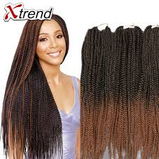 ombre crochet braids 110g 20strands each pack box braids hair crochet synthetic