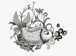 imagen blanco y negro en illustrator blanco y negro pequeños peces illustrator ilustración peces