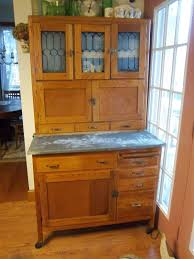 Sellers Kitchen Cabinet Furniture Gorgeous Antique Hoosier Cabinet With Glass Doors For