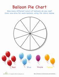 balloon pie chart worksheet education com