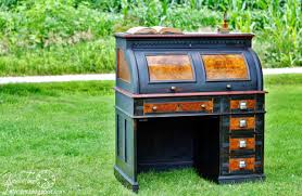 Old Roll Top Desk Antique Roll Top Desk Makeover Reveal Part 2 With Outtakes