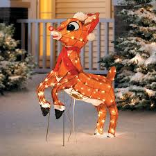 Rudolph The Red Nosed Reindeer Christmas Decorations Animated Rudolph The Red Nosed Reindeer Lighted Christmas