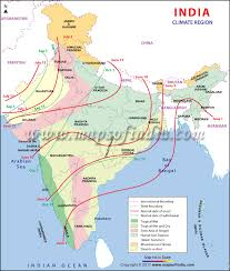 india climate climate map of india and climatic regions map