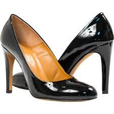 verna black patent leather round toe classic pumps paolo shoes