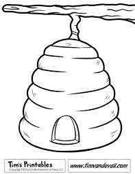 bee hive coloring page honey printable beehive pages animal free