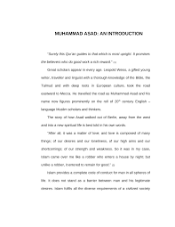 muhammad asad the message of the quran muhammad asad his contribution to islamic learning