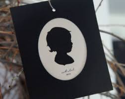 custom silhouette ornament etsy