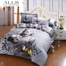 American Flag Comforter Set 3d Oil Painting 100 Cotton Bedding Set Marilyn Monroe Bedding