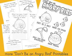 Anger Management Worksheets For More Don T Be An Angry Bird Printables The Home